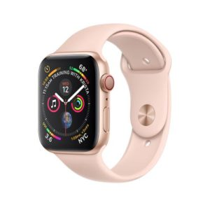 APPLE Watch Series 4 40mm Gold Aluminum Case with Pink Sand Sport Band [MU682IDa