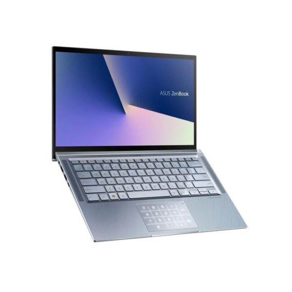 Asus Zenbook UM431DA-AM501T Silver Blue Side