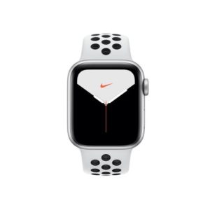 Apple Watch Nike S5 40mm Silver Platinum Black Band MX3R2IDA Front