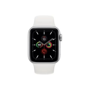 Apple Watch S5 40MM Silver with White Sport Band MWV62IDA Front
