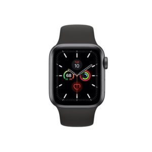 Apple Watch S5 40MM Space Grey with Black Sport Band MWV82ID/A Front