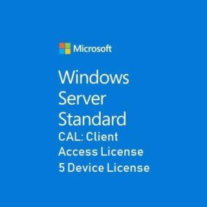 Microsoft Server Standard CAL 5 Device