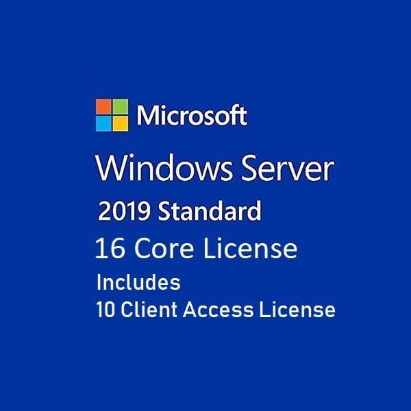 Windows Server Standard 2019 16 Core License FPP 10 Client