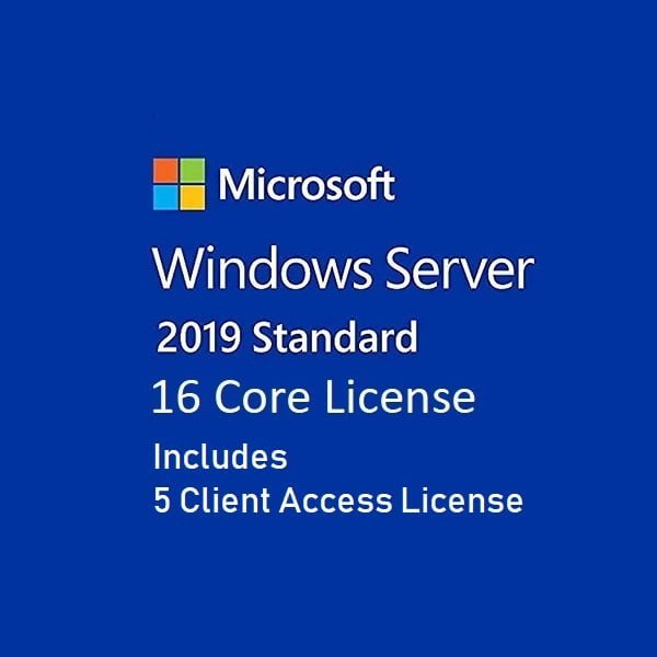 Windows Server Standard 2019 16 Core License FPP