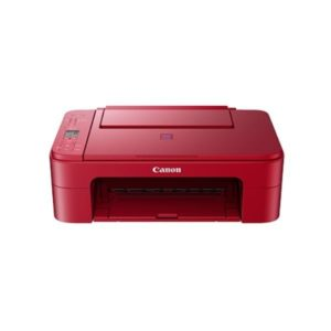 Canon Pixma E3370 Red Multifunction Printer Front