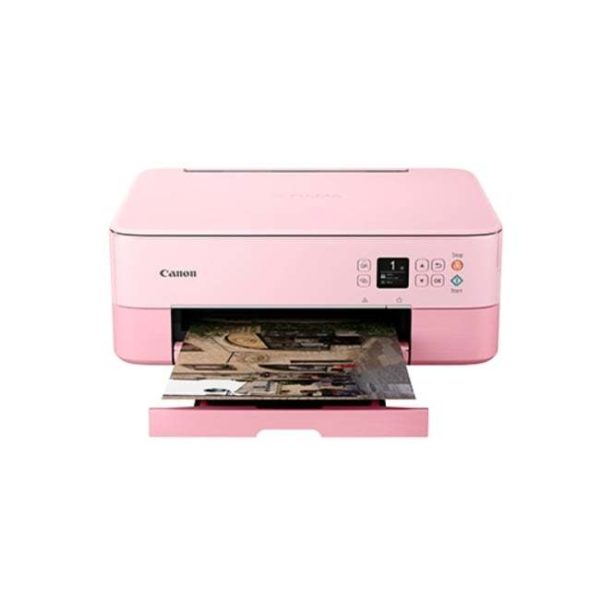 Canon Pixma TS5370 Multifunction Inkjet Printer Pink Front Other