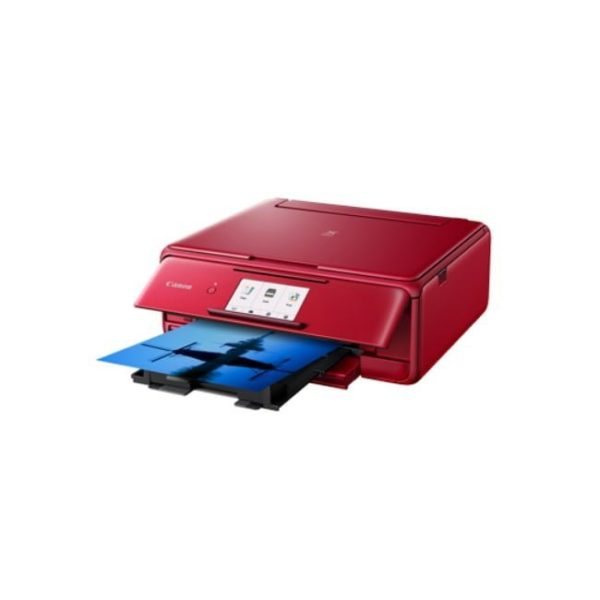 Canon Pixma TS8170 Red Multifunction Printer Side