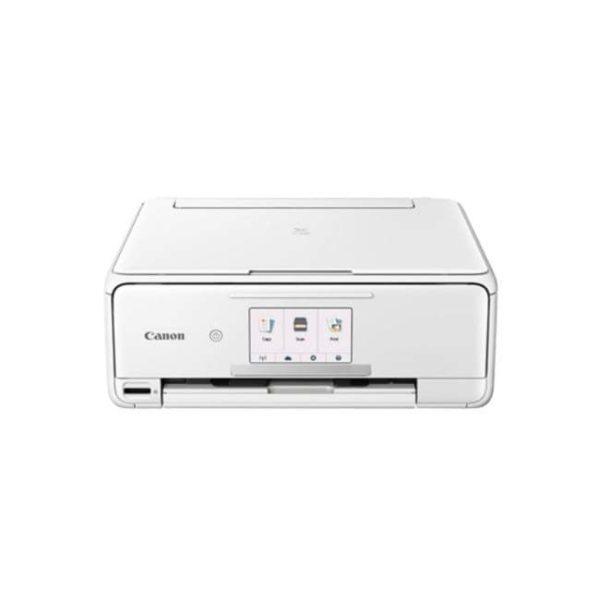 Canon Pixma TS8170 White Multifunction Printer Front