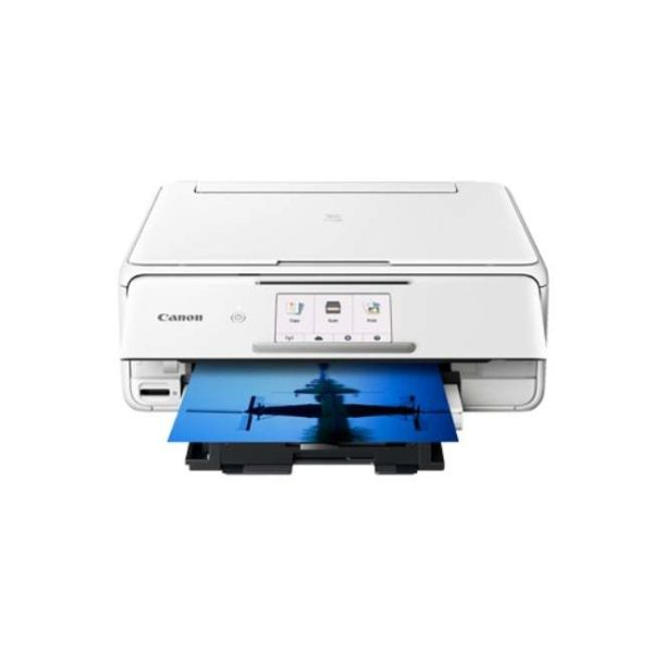 Canon Pixma TS8170 White Multifunction Printer Other Front