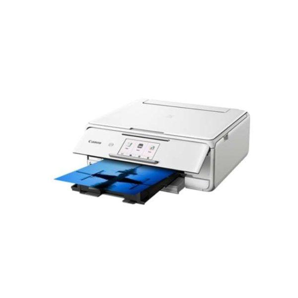 Canon Pixma TS8170 White Multifunction Printer Side