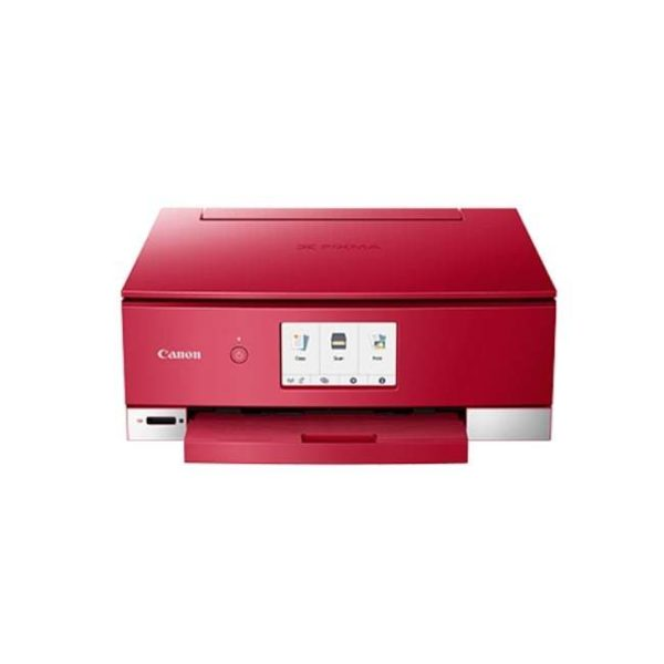 Canon Pixma TS8370 Red Multifunction Printer Front
