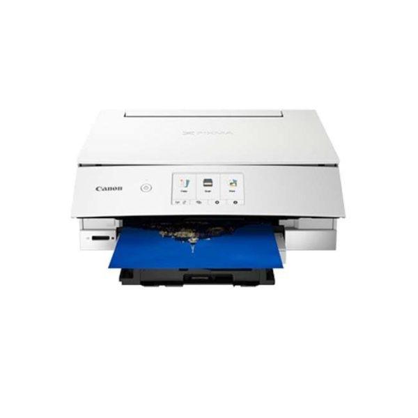 Canon Pixma TS8370 White Multifunction Printer Front